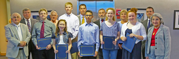 2013 Science Fair Winners and the PWCSA Board Members